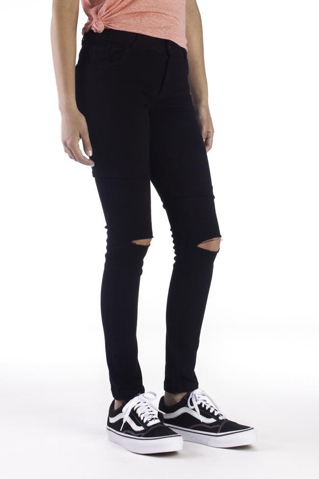 Skateshop Jeans De Skinny Vans Pantalones Fit Mujer Drifters Vans vSwWFq